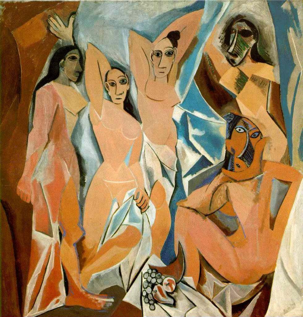 Las Damas de Aviñón (1907) por Pablo Picasso