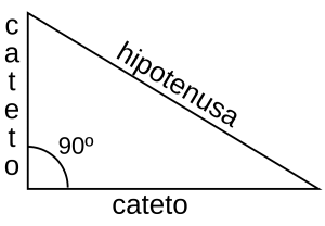 triángulo rectángulo