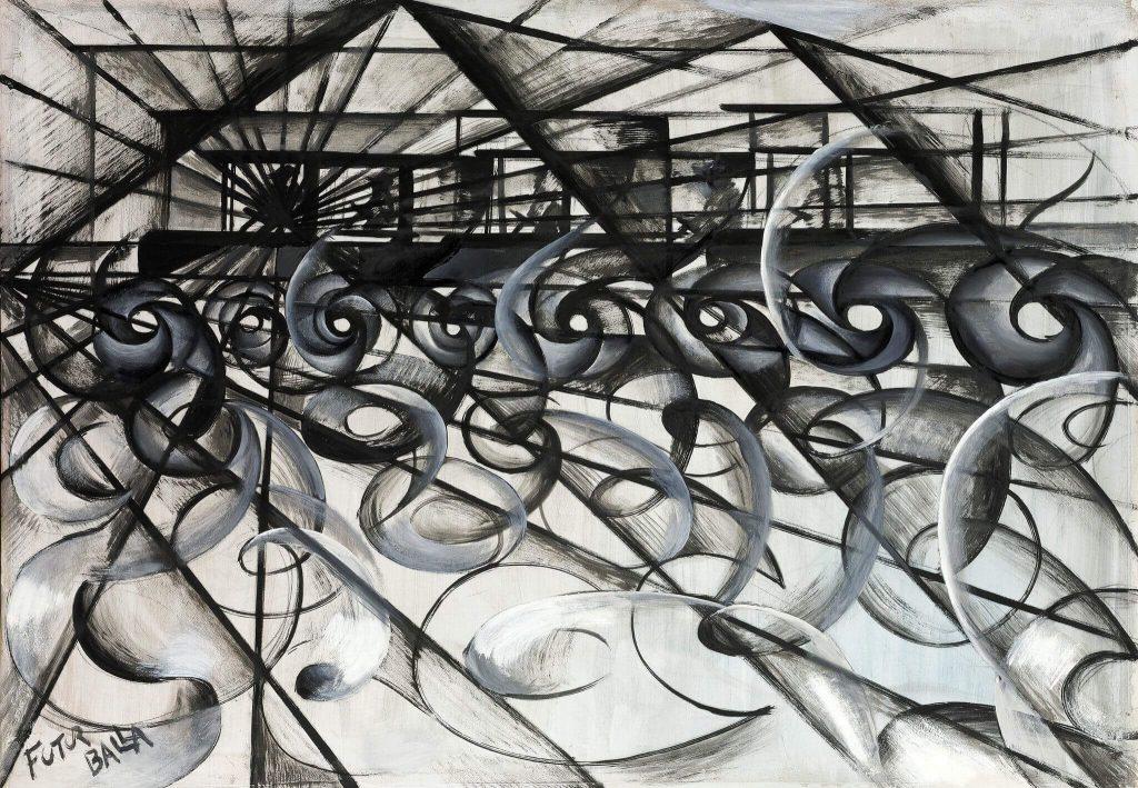 Velocidad del automóvil (1913) por Giacomo Balla